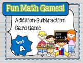 Fun Math Games - Addition / Subtraction (Set A)