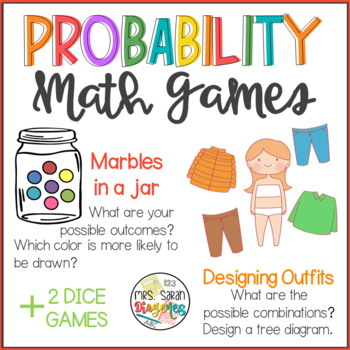 Probability fun math games by mrs sarah diogenes tpt probability fun math games ccuart Images