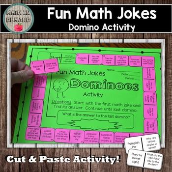 Fun Math Jokes Dominoes Activity