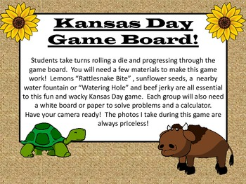 Kansas Day Center or Group Game!  Math Educational and a Ton of Fun!