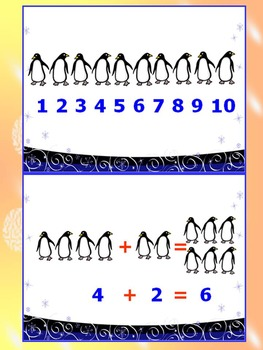 Penguins Math - Addition and Subtraction - PowerPoint Lesson