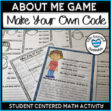 Student Of The Week Poster - Math All About Me Posters