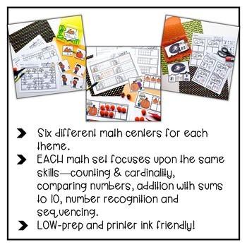 Fall Themed Math Sets {GROWING bundle}