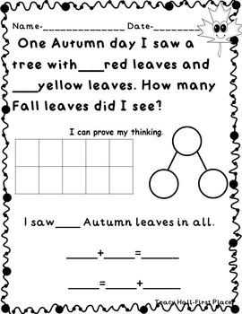 Fun Math Story/Word Problem Creations