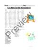 Fun Math Terms Word Search - TEST PREP