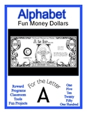 Fun Money Dollars by the Letter ~ Letter A ~ Rewards ~ Cou