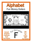 Fun Money Dollars by the letter ~ Letter F ~ Rewards~ Math