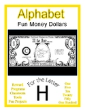 Fun Money Dollars by the letter ~ Letter H ~ Rewards  Math