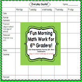 Converting fractions, decimals, and percents activity | 6th Grade Morning Work