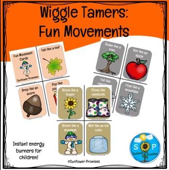 Fun Movement Cards / Wiggle Tamers