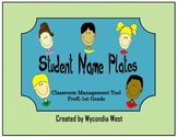 Fun Name Plates for Classroom Management (Green)