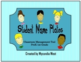 Fun Name Plates for Classroom Management (blue)