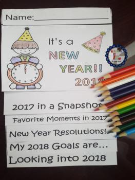 Fun New Year Activity Flip Book
