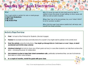 Fun Free New Years Goal Setting Activity for Elementary School Students