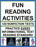Fun Nonfiction Reading Activities! Sports, Super Hero, Urban Legend & Conspiracy