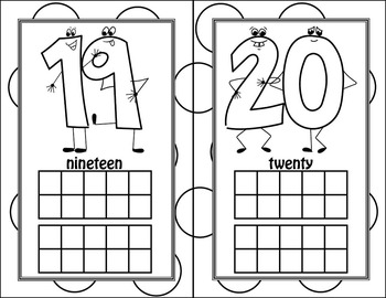Fun Number Flash Cards 0-20 Half Page