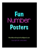 Fun Number Posters {Black}