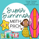 Summer Math Centers - Games and Activities | Ocean Theme