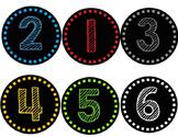 Chalk Number Labels 1-24 -