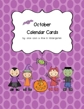 Fun October Calendar Cards