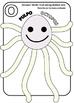 Fun Octopus / Divertido Pulpo para cortar y colorear.