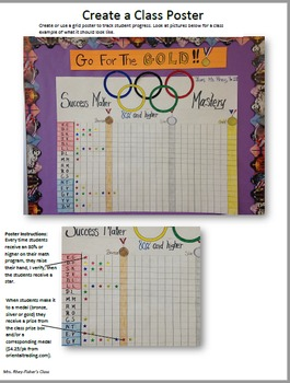 Fun Olympic Student Mastery Tracker