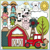 Fun On The Farm Clip Art - Farm Animals Clip Art - CU Clip