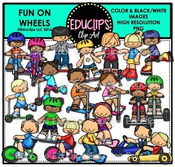 Fun On Wheels Clip Art Bundle {Educlips Clipart}