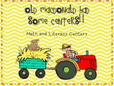 Fun On the Farm ~ Math and Literacy Centers
