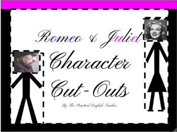 Fun Character Introduction Activity Romeo and Juliet