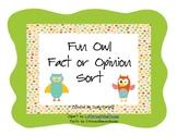 Fun Owl Fact or Opinion Sort