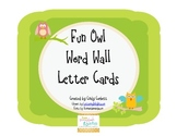 Fun Owl Word Wall Letter Cards