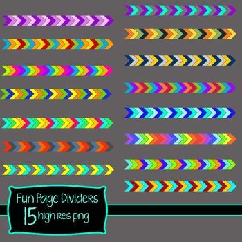 Fun Page Dividers **Clip Art**