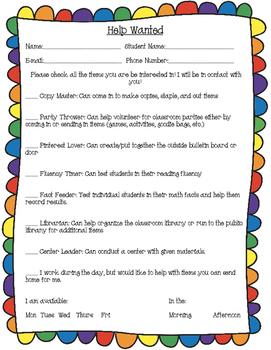 Fun Parent Volunteer Sign-Up