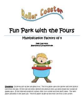 Fun Park with the Fours - Multiplication with 4's