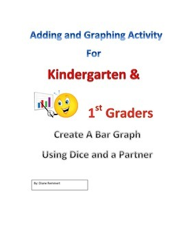 Fun Partner Activity  Graphing Sums using Dice for Kinder & 1st Graders