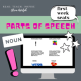 Parts of Speech, First Week of School Seats