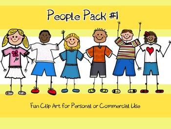 Fun People Clip Art- People Pack