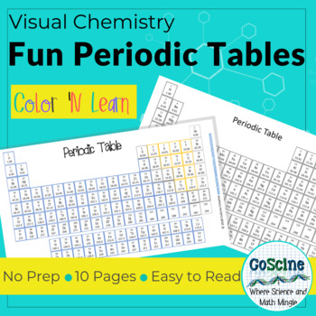 Fun Periodic Tables By Coscine Teachers Pay Teachers