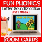 Fun Phonics First Letter Sound Boom Cards Level K Unit 1 Week 1