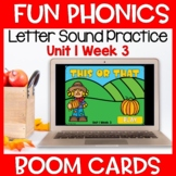 Fun Phonics First Letter Sound Boom Cards Level K Unit 1 Week 3