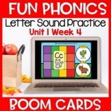Fun Phonics First Letter Sound Boom Cards Level K Unit 1 Week 4