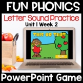 Fun Phonics First Letter Sound PowerPoint Game Level K Uni