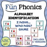 "Fundationally FUN PHONICS  ""I Have...Who Has?"" Alphabet Identification Game"