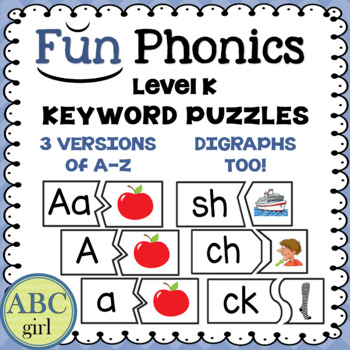 Kindergarten FUNDATIONS Level K Keyword Puzzles