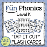 "Kindergarten Fundationally PHONICS Level K ""Tap It Out"" CVC Blending Flash Cards"