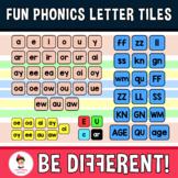 Fun Phonics Letter Tiles Word Work Building Clipart