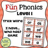 "1st Grade FUNDATIONS Level 1 ""I Have...Who Has?"" Trick Word Game"