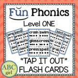 "1st Grade Fundationally FUN PHONICS Level 1 ""Tap It Out"" Blending Flash Cards"