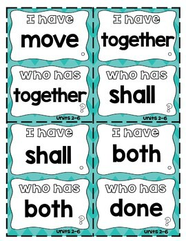 """Fun Phonics Level 2 """"I Have...Who Has?"""" Trick Word Game"""